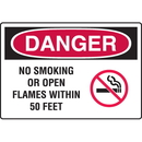Seton 18387 Danger Signs - No Smoking Or Open Flames Within 50 Feet