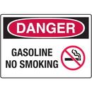 Seton 18489 Danger Signs - Gasoline No Smoking