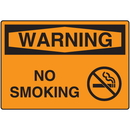 Seton 18535 OSHA Warning Signs - Warning No Smoking