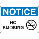 Seton 18680 OSHA Notice Signs - Notice No Smoking