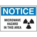 Seton 18738 OSHA Notice Signs - Notice Microwave Hazard In This Area