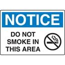 Seton 18744 OSHA Notice Signs - Notice Do Not Smoke In This Area