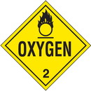 Seton Oxygen Hazardous Material Placards