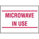 Seton 19729 Housekeeping Labels - Microwave In Use