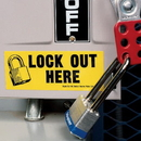 Seton 21162 Lockout Labels - Lock Out Here