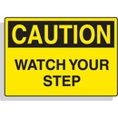 Seton Magnetic OSHA Signs - Caution - Watch Your Step