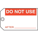Seton 21840 Do Not Use After Maintenance Tags