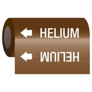 Seton 21948 Gas Self-Adhesive Pipe Markers-On-A-Roll - Helium