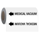 Seton 21950 Gas Self-Adhesive Pipe Markers-On-A-Roll - Vacuum
