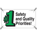 Seton 21964 Safety And Quality Number 1 Priorities Banners