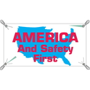 Seton 21966 America And Safety First Safety Slogan Banners