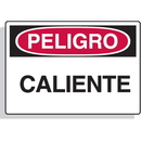 Seton 23085 Spanish Hazard Warning Labels - Peligro Caliente