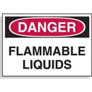 Seton 23113 Hazard Warning Labels - Danger Flammable Liquids