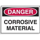 Seton 23179 Hazard Warning Labels - Danger Corrosive Material