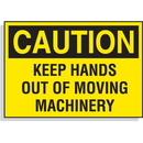 Seton 23227 Hazard Warning Labels - Caution Keep Hands Out Of Moving Machinery