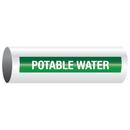 Opti-Code 23879 Opti-Code Self-Adhesive Pipe Markers - Potable Water