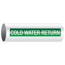 Opti-Code 23920 Opti-Code Self-Adhesive Pipe Markers - Cold Water Return