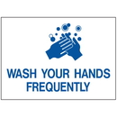Seton 2436B Health & Facility Labels - Wash Your Hands Frequently
