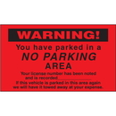 Seton 24700 Parking Control Labels - Warning You Have Parked In A No Parking Area