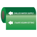 Seton 25133 Self-Adhesive Pipe Markers-On-A-Roll - Chilled Water Supply