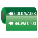 Seton 25135 Self-Adhesive Pipe Markers-On-A-Roll - Cold Water