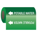 Seton 25148 Self-Adhesive Pipe Markers-On-A-Roll - Potable Water