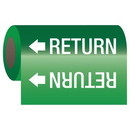 Seton 25150 Self-Adhesive Pipe Markers-On-A-Roll - Return