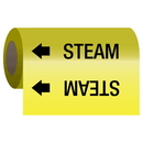 Seton 25152 Self-Adhesive Pipe Markers-On-A-Roll - Steam