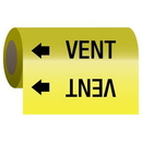 Seton 25155 Self-Adhesive Pipe Markers-On-A-Roll - Vent