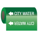 Seton 25159 Self-Adhesive Pipe Markers-On-A-Roll - City Water