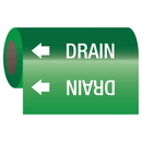 Seton 25165 Self-Adhesive Pipe Markers-On-A-Roll - Drain