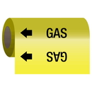 Seton 25168 Self-Adhesive Pipe Markers-On-A-Roll - Gas