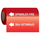 Seton 25171 Self-Adhesive Pipe Markers-On-A-Roll - Sprinkler-Fire