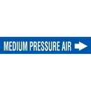 Seton 25193 Self-Adhesive Pipe Markers-On-A-Roll - Medium Pressure Air