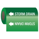 Seton 25204 Self-Adhesive Pipe Markers-On-A-Roll - Storm Drain