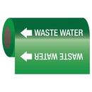 Seton 25212 Self-Adhesive Pipe Markers-On-A-Roll - Waste Water