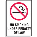Seton No Smoking  Under Penalty of Law Signs