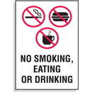 Seton No Smoking, Eating or Drinking Sign