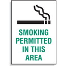 Seton Smoking Permitted In This Area Signs