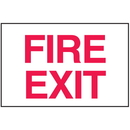 Seton 25645 Fire Exit Sign - Polished Plastic Sign