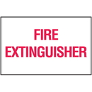 Seton 25647 Fire Extinguisher Sign - Polished Plastic Signs