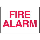 Seton 25648 Fire Alarm Sign - Polished Plastic Sign