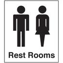 Seton Polished Plastic Office Signs - Rest Rooms - 25655
