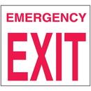 Seton 25678 Emergency Exit Sign - Polished Plastic Sign
