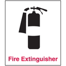 Seton 25729 Fire Extinguisher Sign - Polished Plastic Sign
