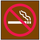 Seton 25734 No Smoking Signs - Graphic Only/Brown with Red and White