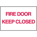 Seton 25742 Fire Door Keep Closed Sign - Polished Plastic Sign
