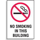 Seton No Smoking In This Building Signs