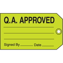 Seton 26868 Q.A. Approved Signed By Date Maintenance Tags