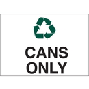 Seton 27417 Recycling Labels - Cans Only